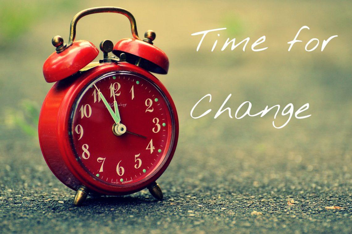 Es hora de cambiar